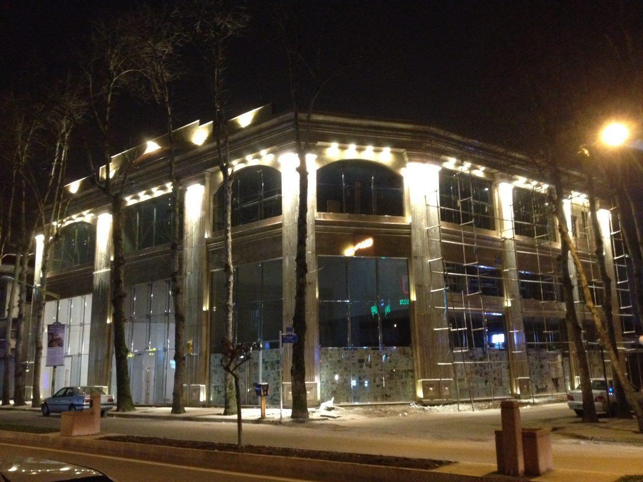 روشنایی نمای ساختمان